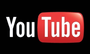 Youtube logo fondo negro